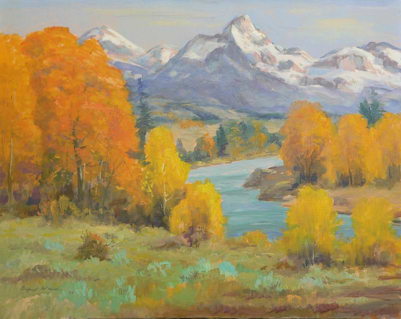 Color on the Snake River 24x30 oil