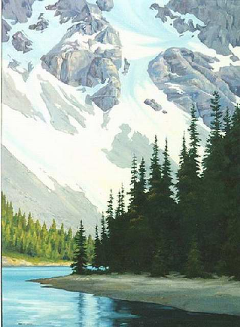Moraine Lake 48x66 Oil $10,000