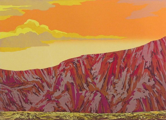 Red Cliff, serigraph print $100 unmatted