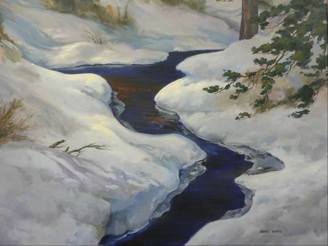 Winter's Beauty 30x40 Oil  $3,200