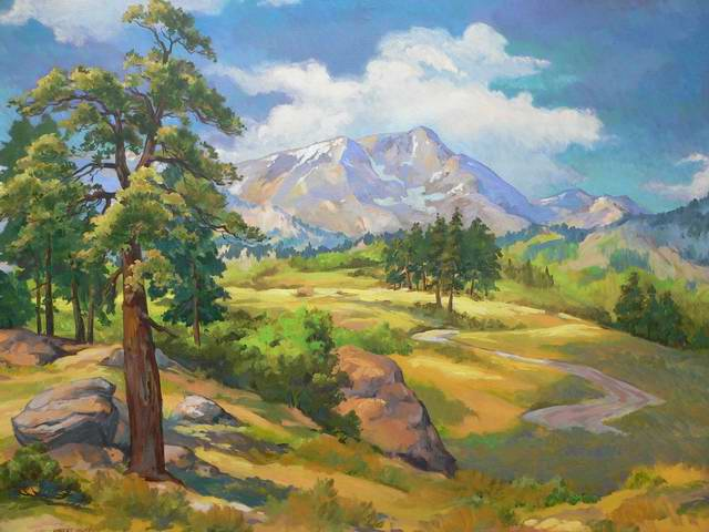 Ypsilon Mtn. 36x48 Oil  SOLD